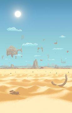 Eine Wüste auf einem anderen Planeten (PIXEL ART) von Marco Willemsen