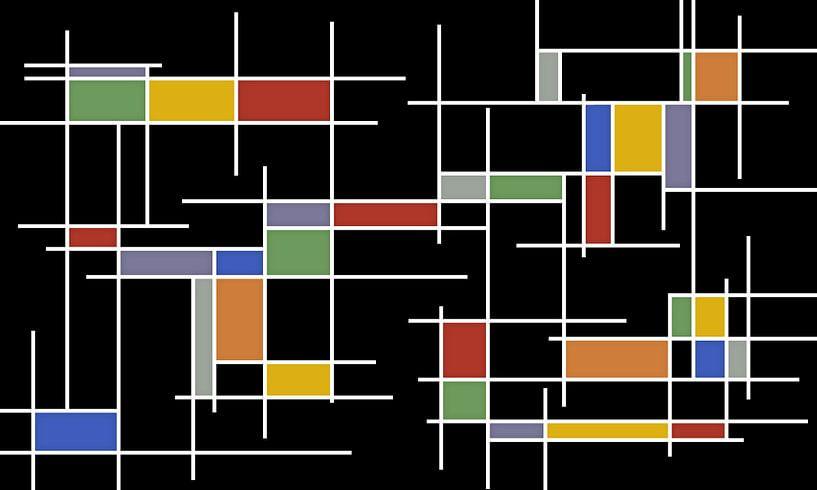 kleurrijke rechthoeken van Marion Tenbergen