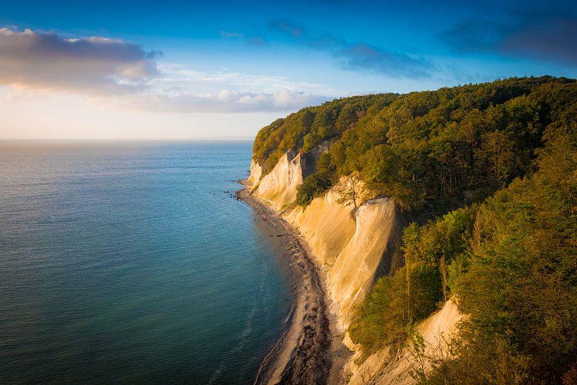 Sonnenaufgang an der Kreideküste von Martin Wasilewski