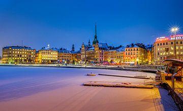 Winteravond in Gamla Stan, Stockholm van Adelheid Smitt