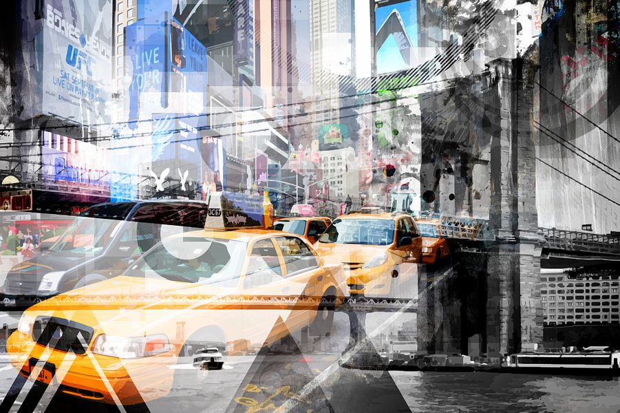 New York City | Geometric Mix No. 9 von Melanie Viola