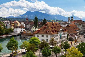 Luzern stadsgezicht van