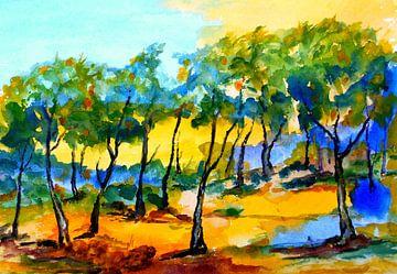 Landscape III van Eberhard Schmidt-Dranske