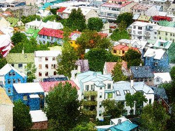 Islande: Les couleurs de Reykjavik sur Frans Blok