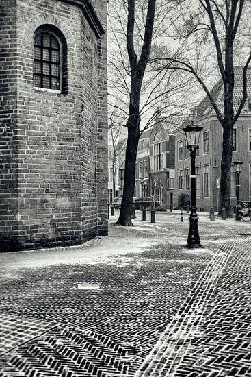 Het Pieterskerkhof in Utrecht in de winter.  (Utrecht2019@40mm nr 33)