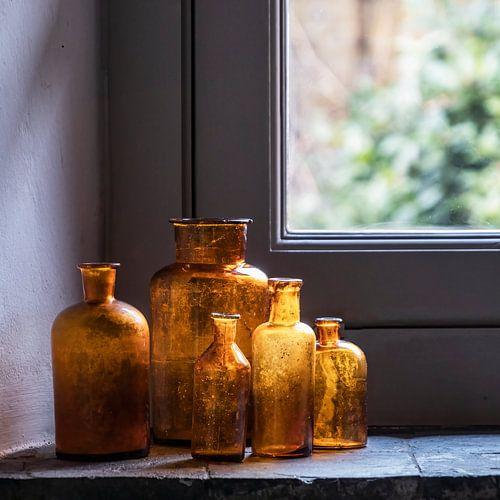 Antieke medicijnflesjes