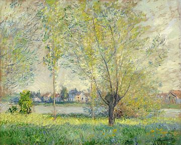 Weiden in einer Landschaft, Claude Monet (1880)