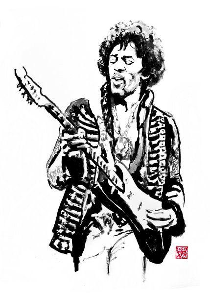 Jimi Hendrix von Péchane Sumie