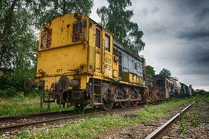 Ancienne locomotive sur Mark Bolijn