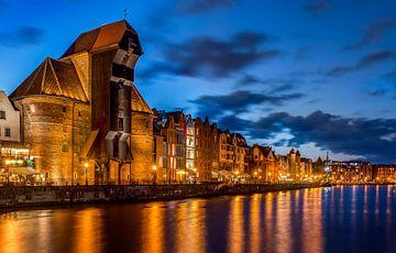 Avond in Gdansk, Polen van Adelheid Smitt