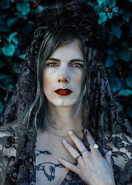 Heks met veren kroon van Laura Wienk