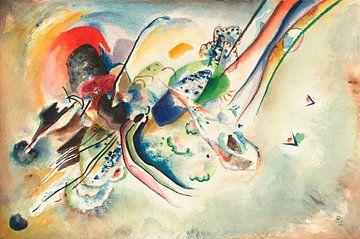 """Komposition (Studie für """"Bild mit zwei roten Flecken""""), Wassily Kandinsky"""