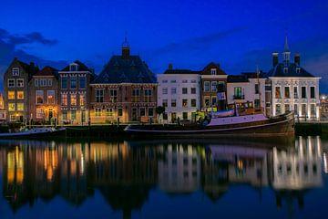 Maassluis stadhuiskade holland zuid holland van Marco van de Meeberg