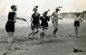 Touwtje springen op het strand