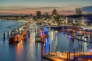 Hamburg bij nacht van Michael Valjak