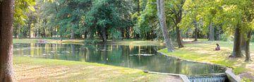 Vijver in het kasteelpark van Laxenburg #2 van Leopold Brix