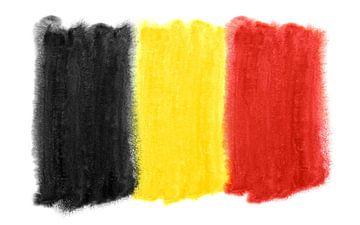 Symbolische nationale vlag van België van Achim Prill