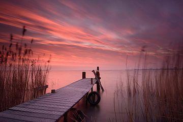 Steiger bij zonsopkomst sur John Leeninga