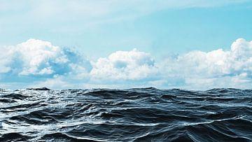 horizon van de zee van Frank Grässel