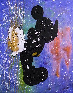 Mickey Mouse «Bisou» sur Kathleen Artist Fine Art