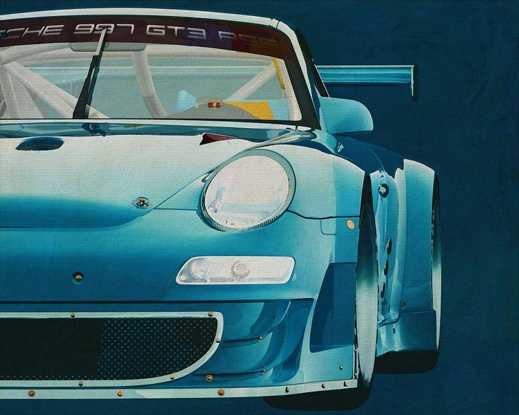 Porsche GT3 RS Cup 2008 voorzijde van Jan Keteleer