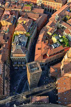 Stadszicht in Bologna van
