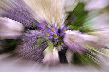 Zoomblur bloemen van Yvonne Balvers