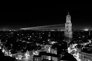 Sol Lumen in Utrecht gezien vanaf de Neudeflat, ZWART-WIT