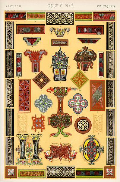 Owen Jones' berühmtes Werk Die Grammatik des Ornaments aus dem 19. Jahrhundert. von 1000 Schilderijen