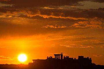 Ondergaande zon van BriGit Stokman