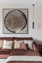 Klantfoto: Cirkel (gezien bij vtwonen) van Pieter Hogenbirk, op canvas