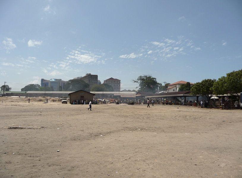 'Open veld', Dar es Salaam- Tanzania van Martine Joanne