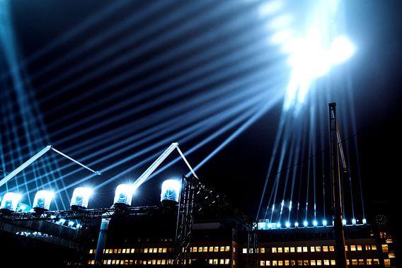 Lichtstralen tijdens 'Glow' Eindhoven