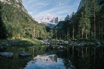 Alpen landschap reflectie van Jisca Lucia