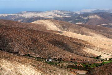 Vulkanische Berglandschaft auf Fuerteventura von Peter de Kievith Fotografie