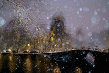 Amsterdam neige d'hiver sur Marianna Pobedimova