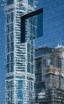 Dubai, reflectie van gebouwen van