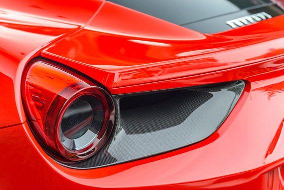 Ferrari 488 GTB achterlicht detail van Sjoerd van der Wal