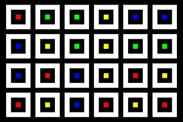 Nested | Center | 06x04 | N=02 | Random #04 | RGBY van Gerhard Haberern