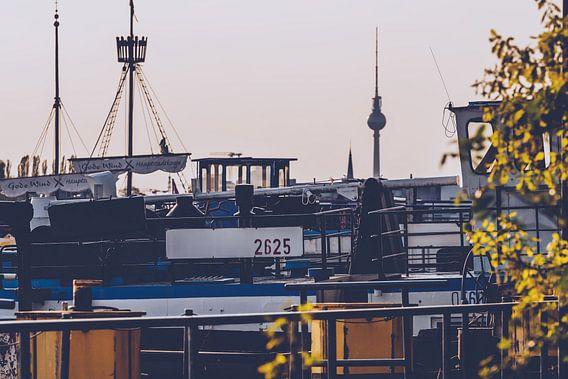 Berlin - Skyline Rummelsburger Bucht van Alexander Voss