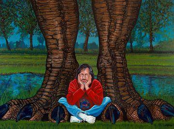 Steven Spielberg Schilderij van Paul Meijering
