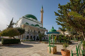Al-Muallaq moskee in centrum van Accra, Israel van Joost Adriaanse