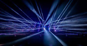 Glow 2019 - Lichtbundels PSV Stadion - Eindhoven