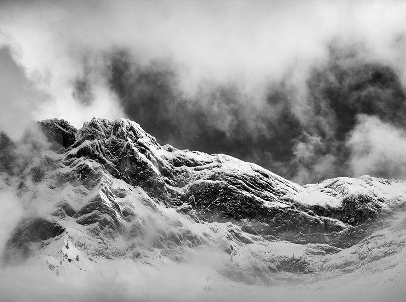 Cloudy snow peak.