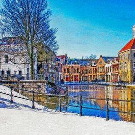 Image d'hiver Schiedam sur Frans Blok