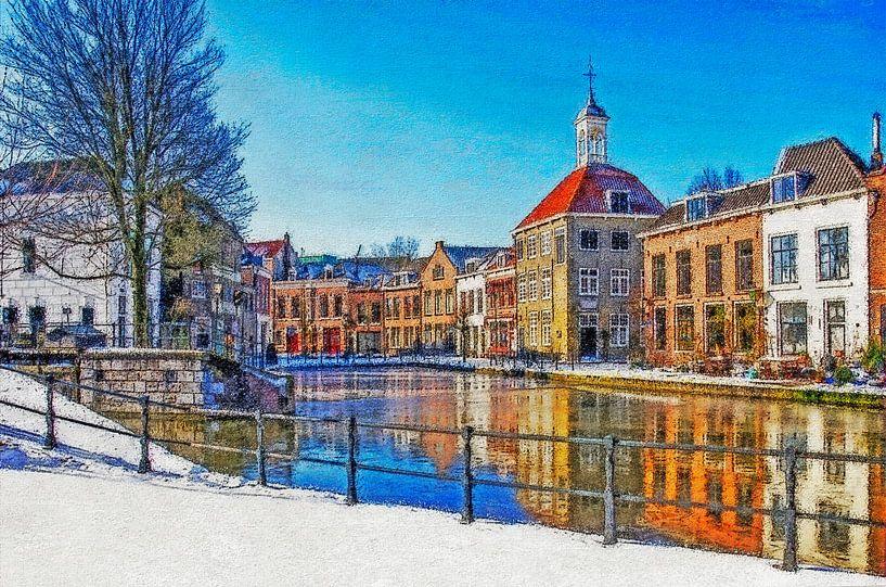Winterbeeld Schiedam van Frans Blok