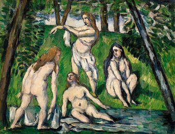 Cézanne, Vier Badende (ca. 1876-1877) von Atelier Liesjes