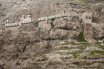 Kloster der Versuchung auf dem Felsen, ein Ort, an dem der Legende nach der Teufel Christus versucht von Michael Semenov