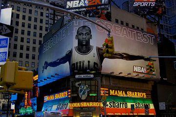 Times Square Michael Jordan von Tineke Visscher