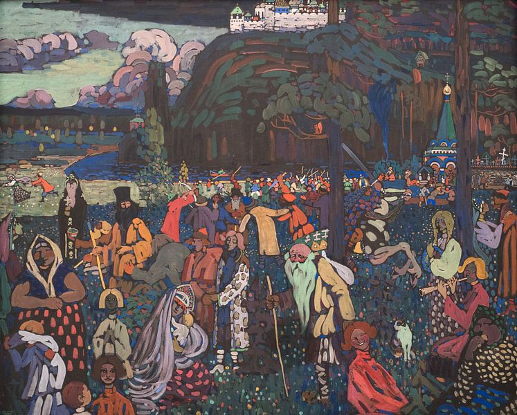 Kleurrijk leven, Wassily Kandinsky van Meesterlijcke Meesters
